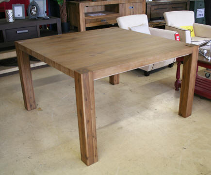 Table carr e 140 140 avec rallonges table de lit - Table carree avec rallonge ...
