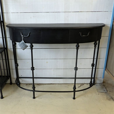 Console en m tal noir allure 60cm pictures to pin on pinterest for Console metal noir