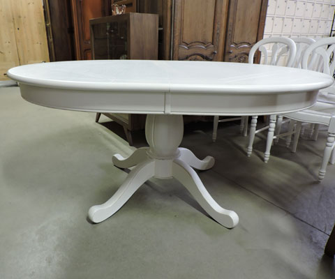 Les meubles occasion - Table ovale design pied central ...