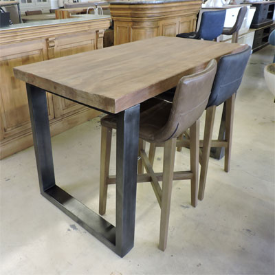 Table haute style industriel home design architecture - Table haute rangement ...