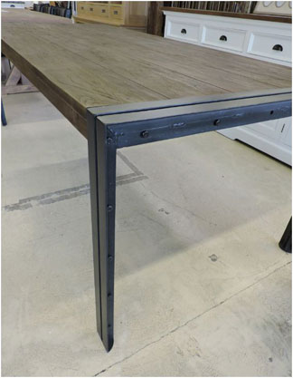 Salle manger style industriel for Table a langer largeur 52 cm