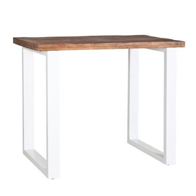 Les tables for Table haute bois et metal