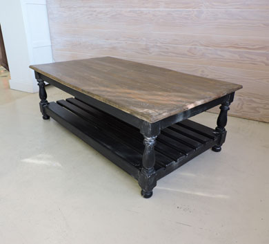 Wood And Metal Industrial Coffee Table W 100cm Long Island