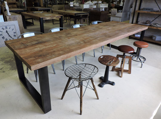 Les tables for Table design industriel