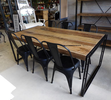 Salle manger - Table style industriel ...