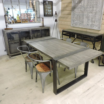 Emejing table salle a manger style atelier ideas for Table salle a manger 5 metres