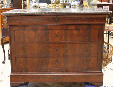Commode style louis philippe dessus marbre 395 - Commode ancienne louis philippe ...