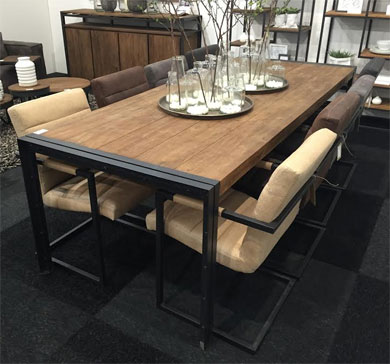 Les tables for Table de style industriel