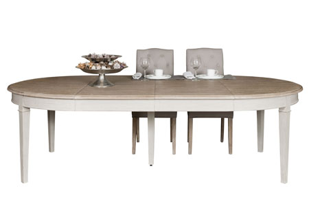 Les tables for Table ovale extensible bois